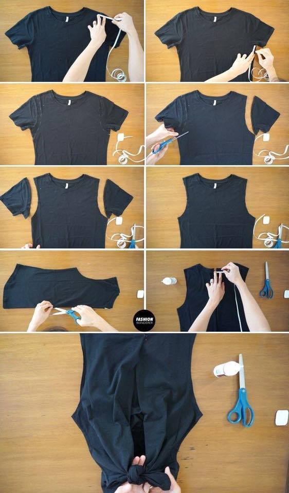 DIY twist front dress