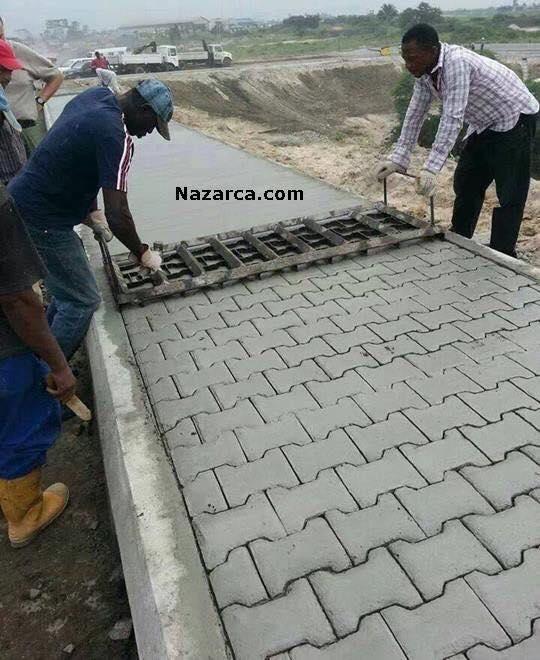 concrete bricks walkway
