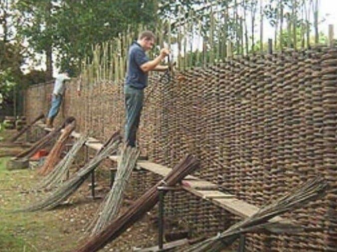diy wooden fence