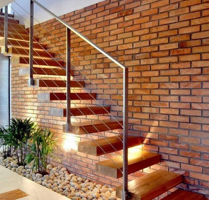 Our Modern Stairs With Mini Garden Option