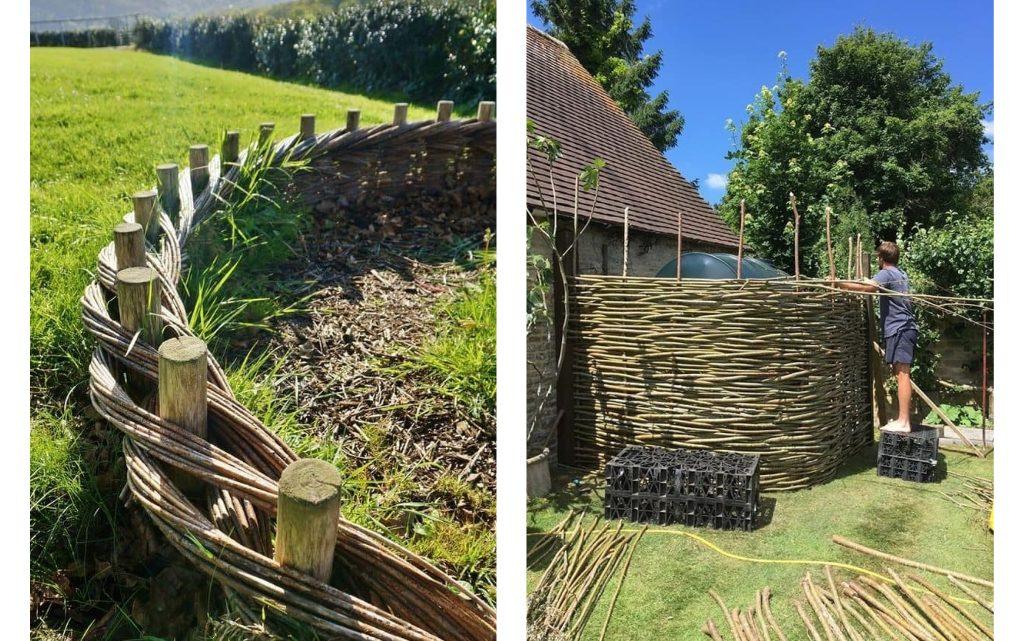Check This DIY Woven Fence Idea