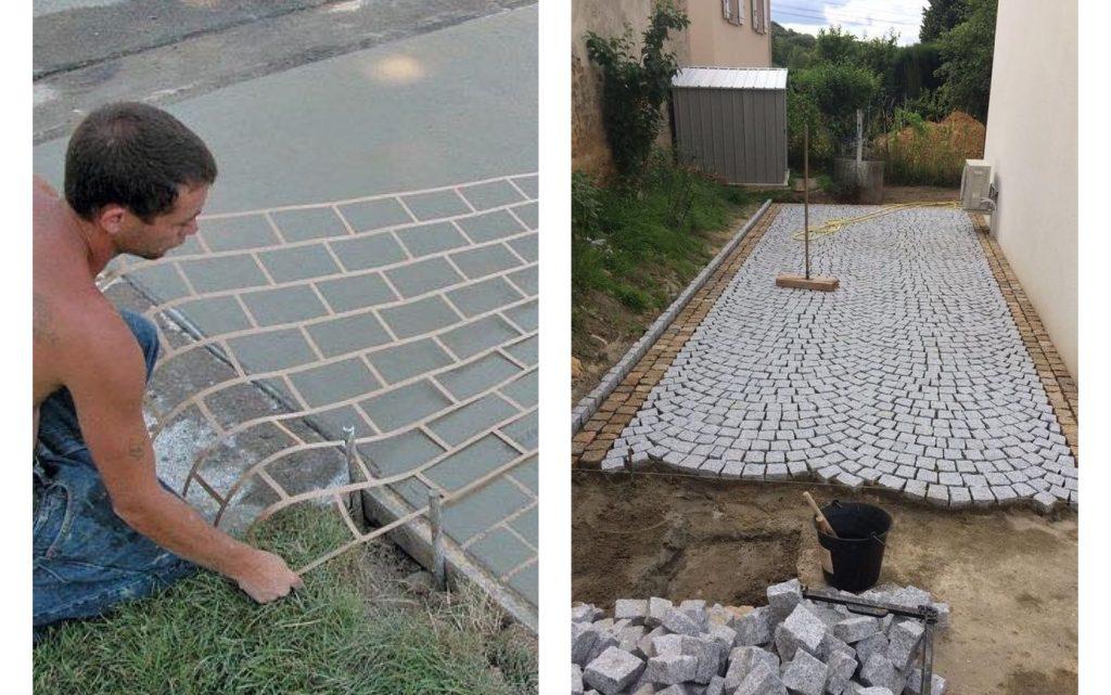 DIY Garden Concrete Walkway