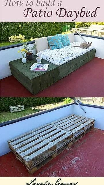 How to Build a Patio Daybed