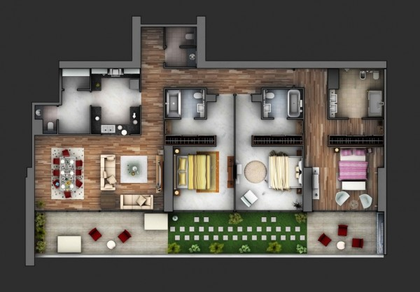 These are Simple House/Apartment Plans