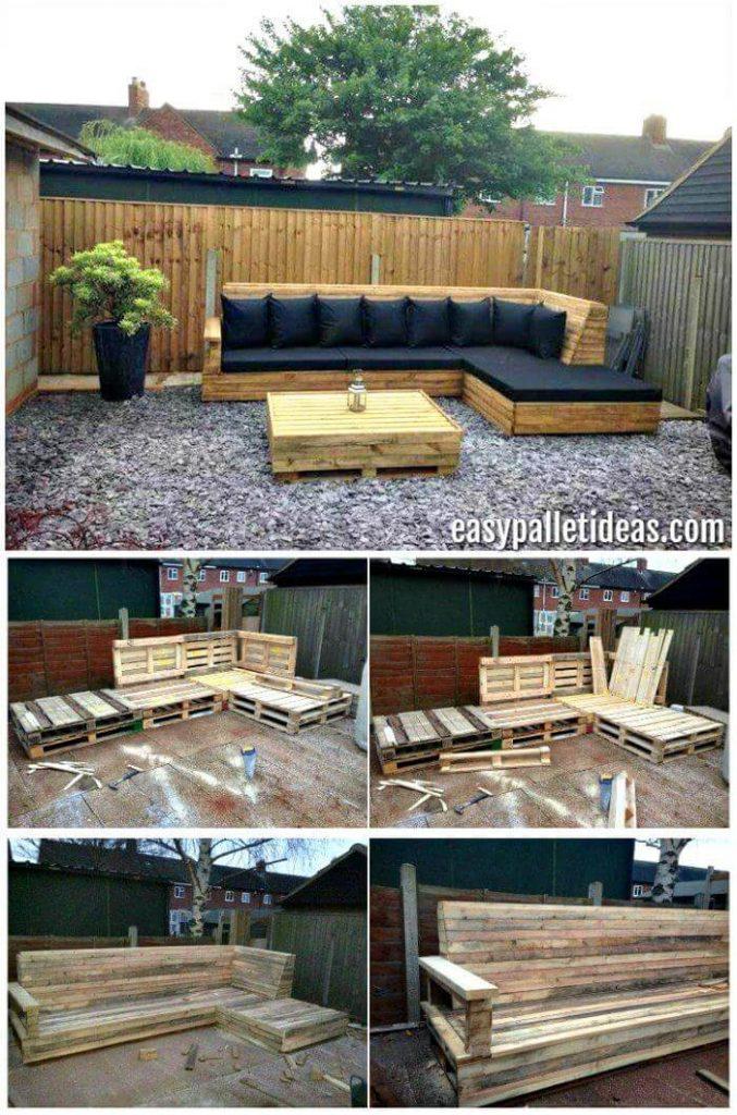 DIY pallets sofa