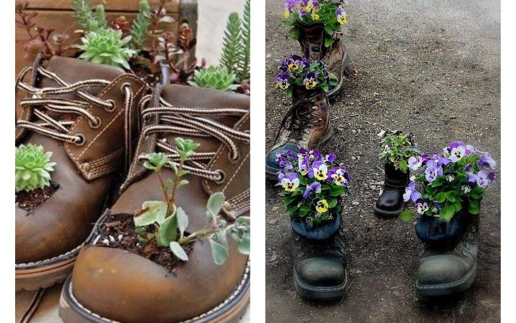 Shoe Planters Reuse Ideas